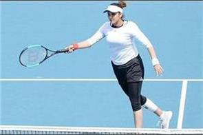 sania returns to the tennis court with a win