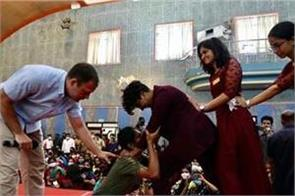 rahul gandhi taught japanese martial arts to the students