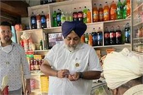during his visit to village badal  sukhbir badal enjoyed kulfi