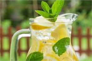 to keep your body cool  you must drink lemon water in summer