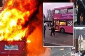 northern ireland  violence  bus hijacking  fire