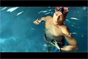 kamal kaloi created the world record of yoga under water for a long time