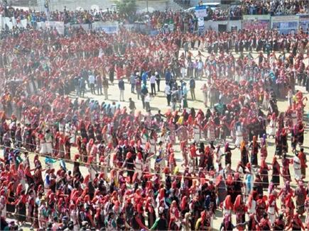 4,000 ਔਰਤਾਂ ਨੇ ਨਾਟੀ ਪਾ ਕੇ ਦਿੱਤਾ ਖਾਸ ਸੰਦੇਸ਼