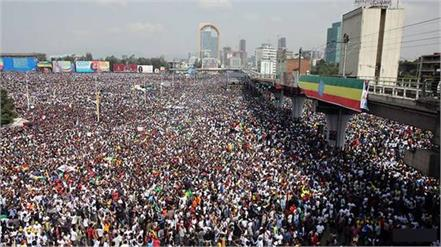 132 wounded 1 dead in grenade attack at ethiopian prime minister s rally