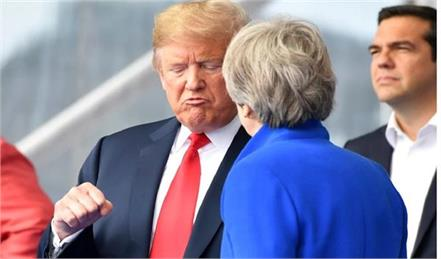 trump advised me to try lawsuit instead of negotiating with the eu  theresa