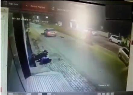 chhattisgarh  two bike borne men were hit by a car