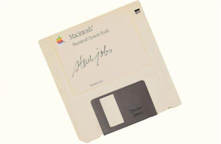 steve jobs signature made this one of the most expensive floppy disks