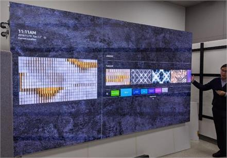 samsung launched the wall microled display