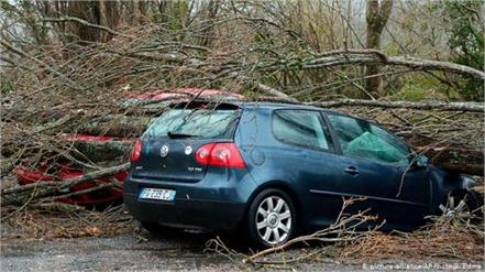 france  winds  flooding leave thousands of homes without power