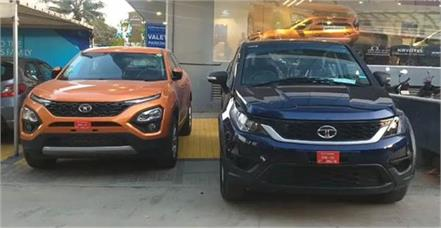 tata hexa and harrier are available with discount