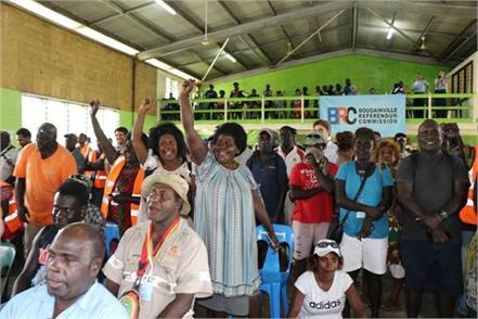 bougainville votes to become world s newest country