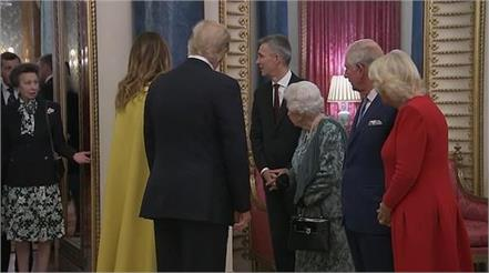 princess anne shrugs queen elizabeth gestures for her greet donald trump