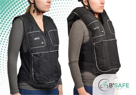 protective airbag vest for cyclists
