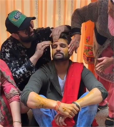 yuvraj hans and mansi sharma haldi ceremony