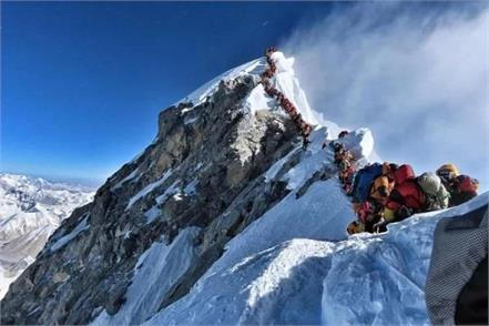 traffic jam mount everest death