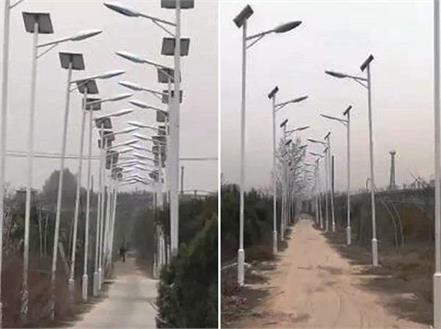 villagers light up 3 km long road with 1000 street lights but why