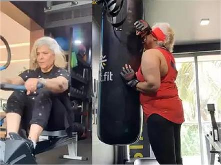 hrithik roshan  s mother at the gym