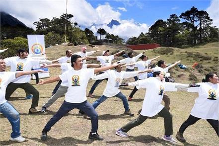 nepal  yoga exercise
