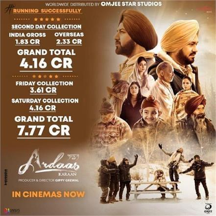 2nd day box office collection ardaas karaan