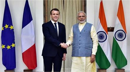 macron to discuss kashmir issue with modi