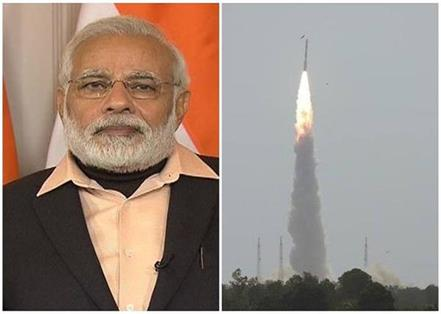 pm modi congratulations to team isro