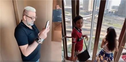 sanjay dutt viral video on internet with kids