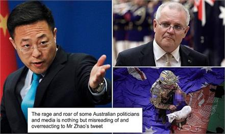 scott morrison chinese officer war crimes