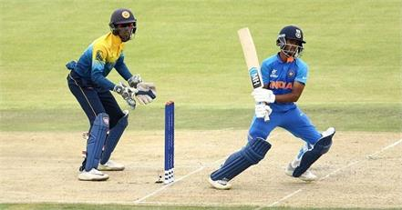 u 19 world cup  india beat sri lanka by 90 runs
