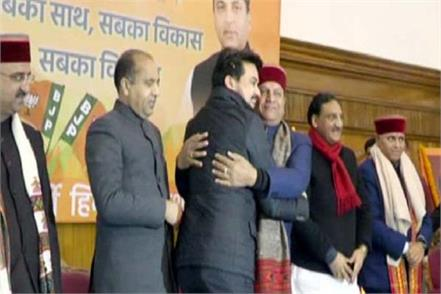 anurag thakur did not shake hand with cm jairam