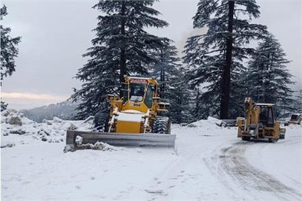 shimla fresh snowfall manali chandigarh highway closed