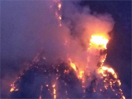 forest fire breaks out in chaura area of kinnaur