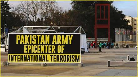 pakistan army epicenter of international terrorism benner in geneva