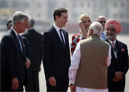 ivanka trump arrives in india