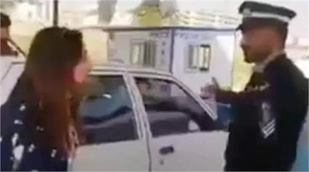 muslim girl viral video punjabi policeman