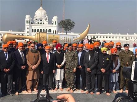 un chief visited kartarpur sahib in pakistan by m zulqernain