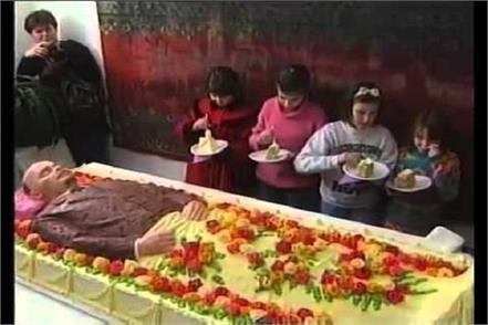 spain dead body cake