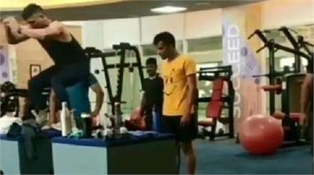 fans surprised by dhoni  s stunt  video