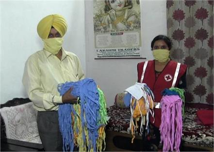 in himachal pradesh sardar ji made mask byturban