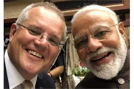 scott morrison narendra modi discussion
