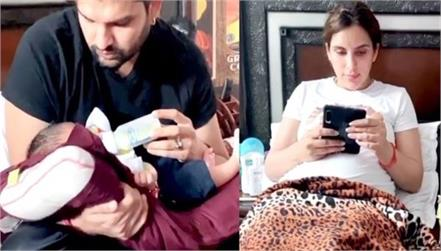 yuvraaj hans shared his funny video with wife mansi sharma