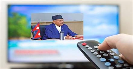 ban on broadcasting of indian news channels in nepal