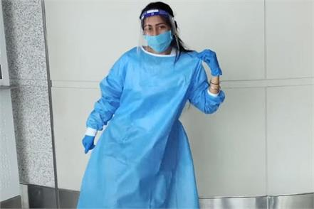 dhanashree verma seen in ppe kit