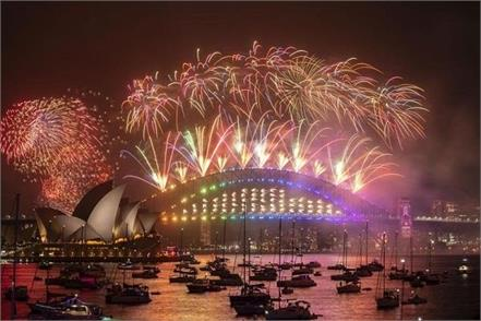 australia  new year  fireworks