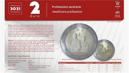 italy government of   2 euro coin  health worker