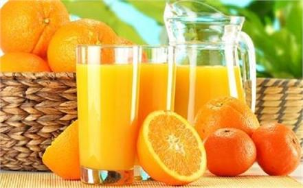 orange juice face glow diabetes heart cold