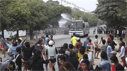 police opened fire on protesters in myanmar