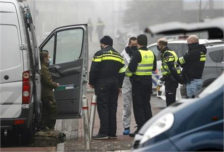blast near a coronavirus test centre in netherlands