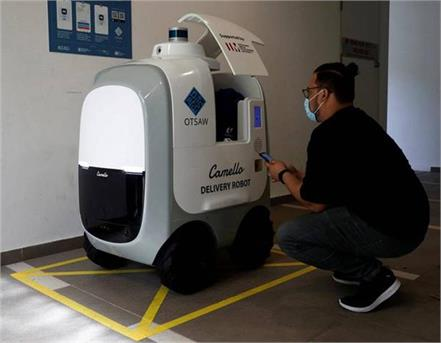 singapore company deploys robots to deliver groceries
