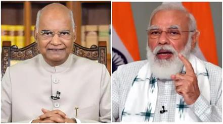 president and pm modi wishes people eid