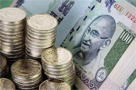 rupee opened against 72 with a weakness of 35 paise
